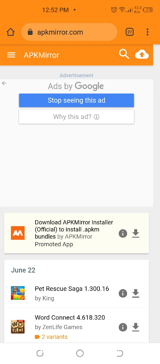 download 3rd party APK files