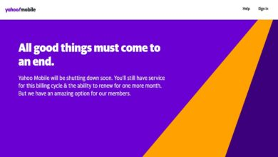 yahoo mobile shuts down