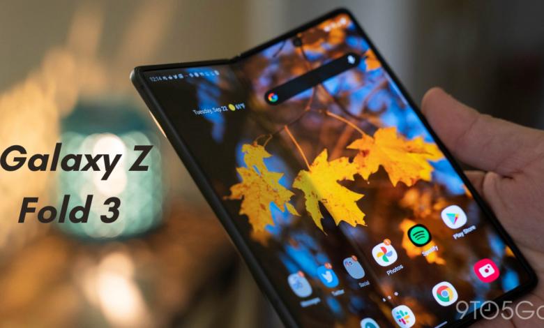Samsung Galaxy Z Fold 3 Render Presents Under-Display Selfie Camera