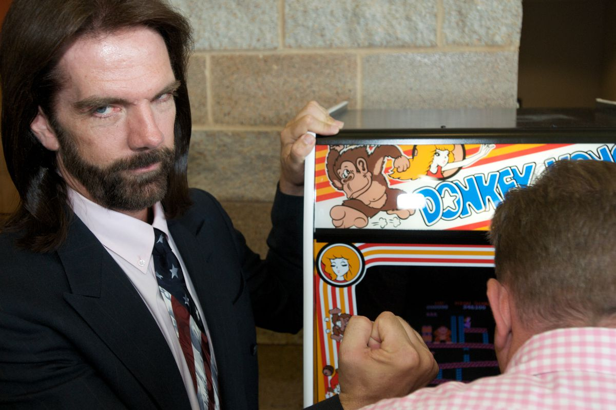 One Million Points Record of the Arcade Game Donkey Kong 2