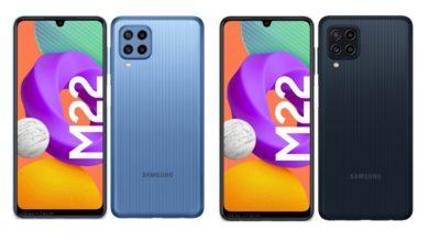 Samsung Galaxy M22 Renders