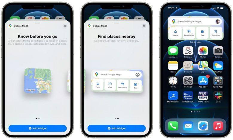 iPhone Users Get New Google Maps Widgets