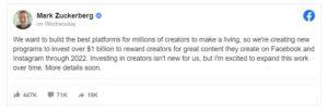 Facebook creators