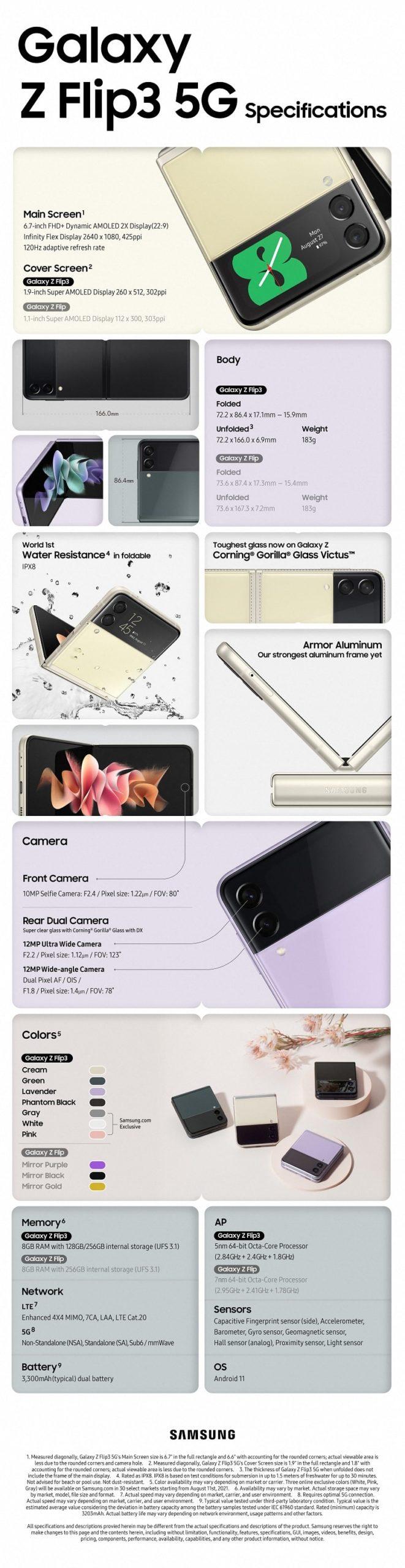 Samsung Galaxy Z Flip3 Specs