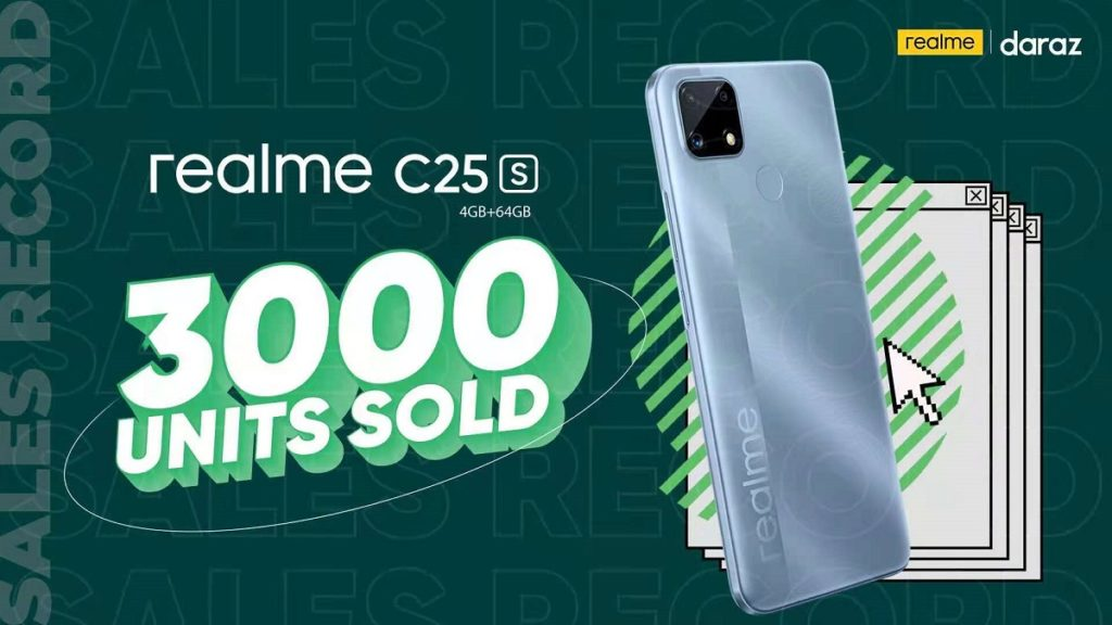 realme C25s Sells 3,000 Units on its First Day Becoming the Best Device in the 20K Range