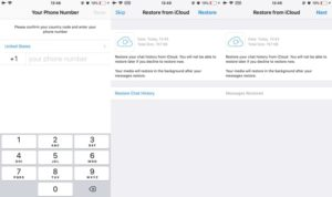 Restoring deleted chats from iCloud Backup on iPhone