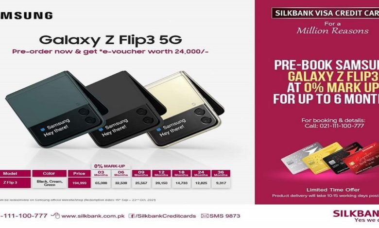 Pre-book Samsung Galaxy Z Flip 3 5G in Pakistan with 0% Markup