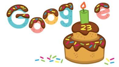 Google Celebrates 23rd Birthday through Doodle