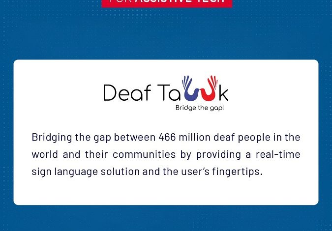 DeafTawk awarded a grant of $250,000 by The GSMA Innovation Fund for Assistive Tech