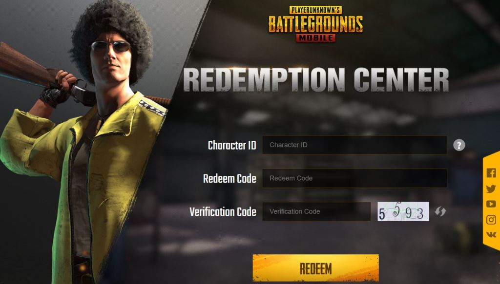 use these PUBG MOBILE redeem codes