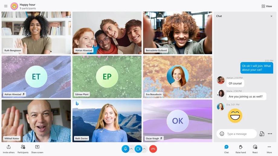 Skype New Themes Layout