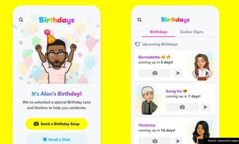 Snapchat Birthday Mini
