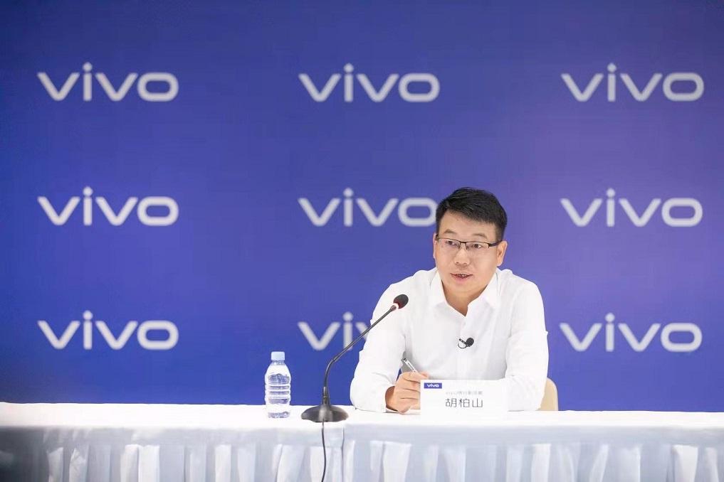 Hu Baishan, Executive Vice President & COO at vivo, speaking at the press event