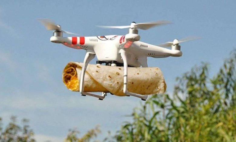 food delivery via drones