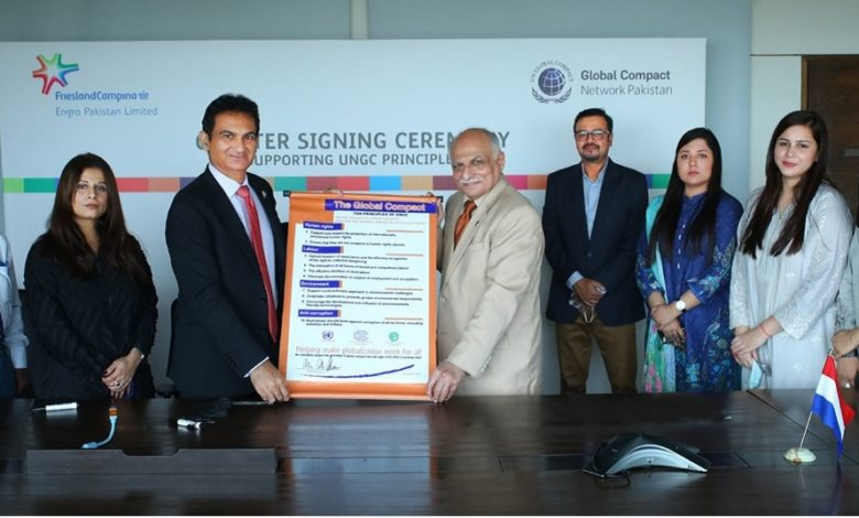 FrieslandCampina Engro Pakistan Ltd joins the UN Global Compact - Reinforcing its commitment towards achieving the global Sustainable Development Goals