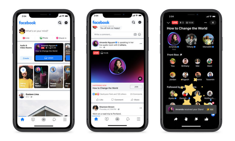 Facebook Launches Live Audio Rooms Globally