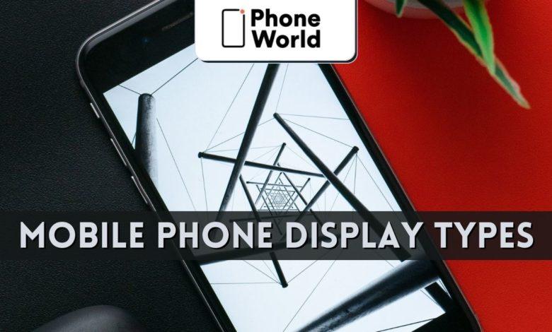 Mobile phone displays