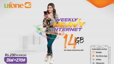 Ufone's Weekly Heavy Internet Package