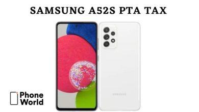 Samsung A52s tax